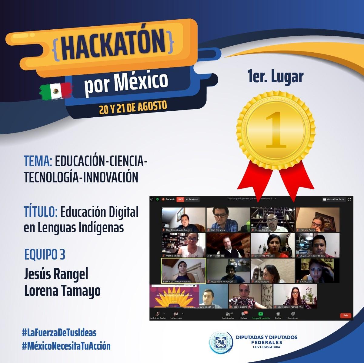 Ganan el concurso Hackatón estudiantes del TecNM campus IT Ensenada