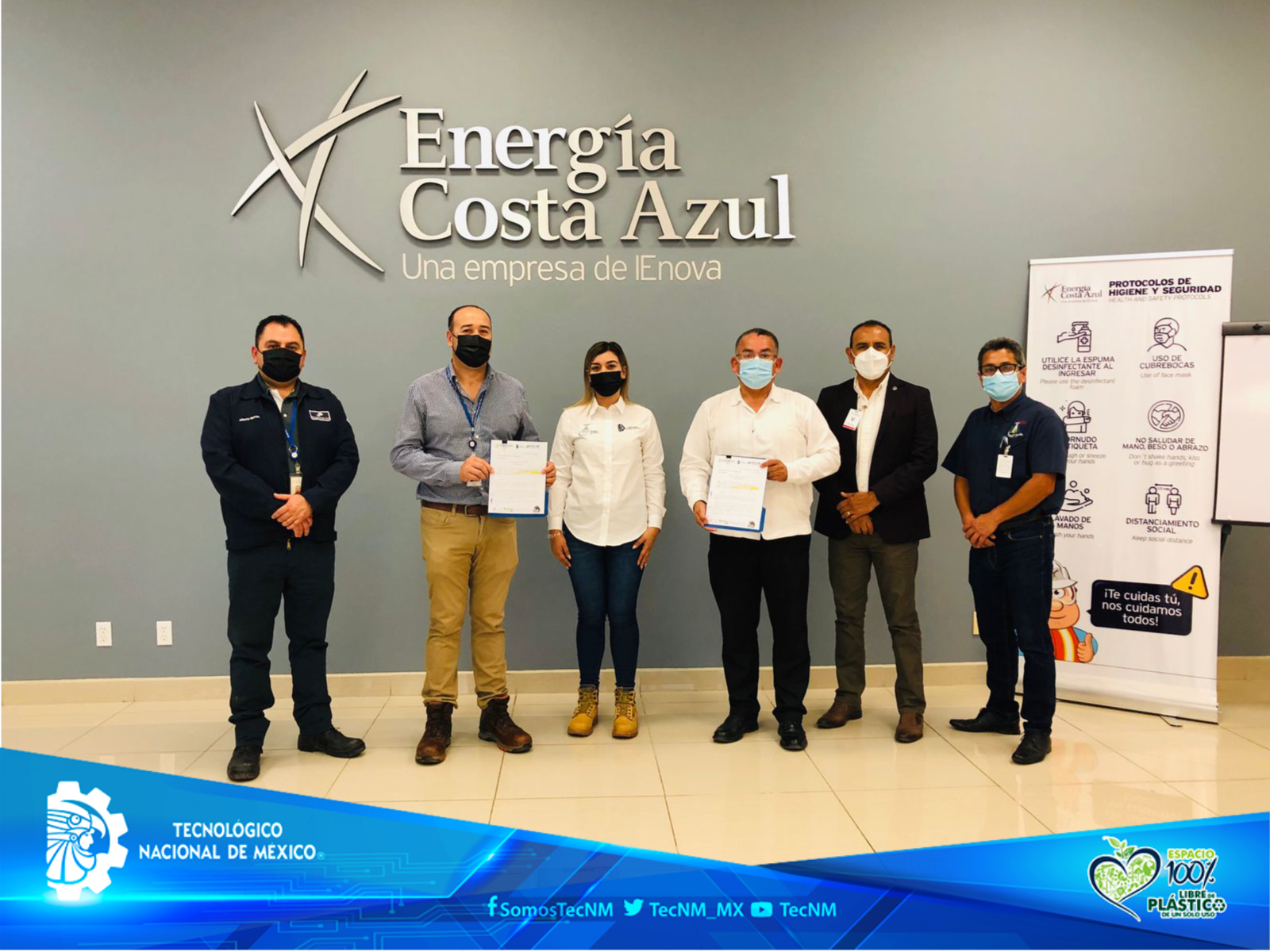Celebra firma de convenio entre el Instituto Tecnológico de Ensenada del TecNM y Energía Costa Azul S. de R.L.